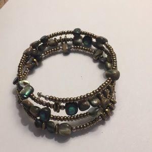 Silpada abalone shell bracelet